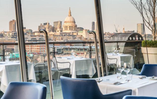 Restaurant overlooking London, Oxo Tower