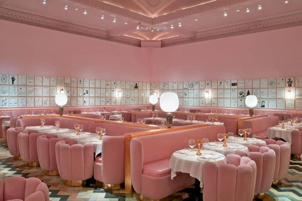 Romantic restaurant, Sketch